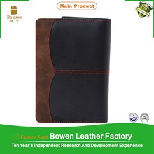 High quality personalied 7inch leather cover notebook& PU notebook binder & PU cover binder notebook