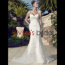 Actual Images Sexy Sweetheart Neckline Cap Sleeve `Mermaid Low Back Long-length Train Beaded Chinese Wedding Dress WD411