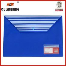 A4 FC clear holder plastic document bag organiser
