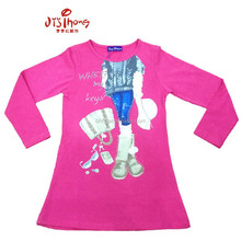 high quality Girl's long t-shirt wholesale kids clothes