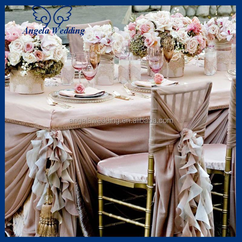 ch046a cheap wedding chiffon flower decorated universal ruffled