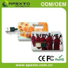 Shenzhen Popular Two Sides Logo Printing Credit Card usb flash disk(U-504A-1)