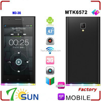 2015 Unlocked 4.7 inch M3A Android 4.3 Cell Phone MTK6572 Dual SIM GSM WIFI 3G ultra slim android smart phone