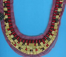 gorgeous and national style collar with colorful beads