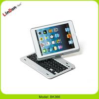 For Ipad Mini 360 Degree Rotation Wireless Bluetooth Keyboard with Keyboard Case