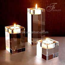 crystal cube tealight holder crystal candle holders wedding table decorations