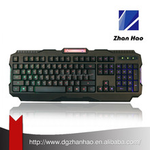 7 colors professional wired backlit multimedia led gaming keyboard for desktop