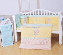 applique embroidery nursery bedding sets/baby beddings