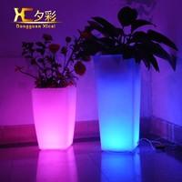 Holiday Decorative Glowing Vase Home Garden Ornament LED Flower Pot For Wedding Hotel Resturant