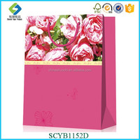 Silk Screen Print With Rose Series Promotional Eco Shopping Bag