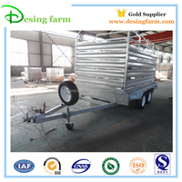 Hot dip galvanized side panel of livestock trailer for sale
