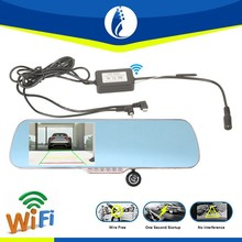 5inch LCD wire free Android 4.1 GPS DVR wifi wireless MP5 car rearview camera