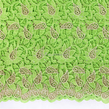 New fashion women suits lemon green african lace materials / Lace embroidery fabric / Multi color guipure lace fabric