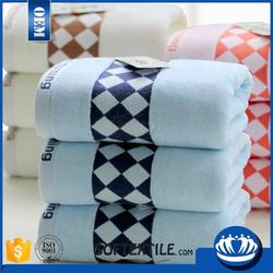 Multifunctional multi-color personalized white and green stripe cotton towels