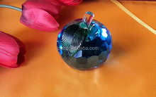 delicate clear colorful crystal apple