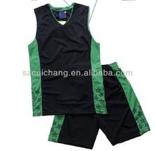wholesale heat transfer/silk screen print polyester/cotton custom design fashion basketball wear LQF-071