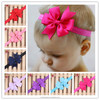 NEW grosgrain ribbon Girl hair bow Headbands Boutique +girls elastic hair bands+hair accessories for kids BTS006