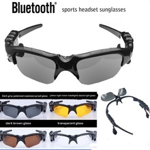 China sunglasses factory wirelss bluetooth headset night vision smart sports glasses