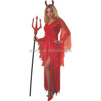 Hot sale fashion style red color devil cosplay fancy dress costume BWG3178