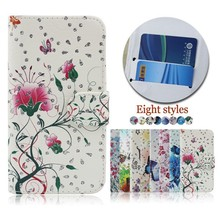 Flower Butterfly Pattern Flip Leather Cell Phone Case Cover for nokia N920