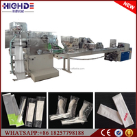 disposable fast food restaurant sanitary napkin fork spoon toothpick packing machine