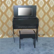 European style antique wood black dresser with storage cabinet