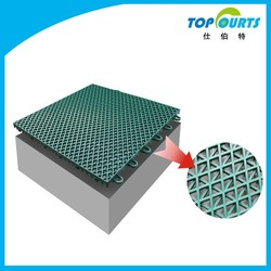 Synthetic portable interlocking outdoor basketball court flooring