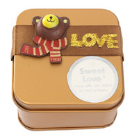 Metal Candy Bear Sweet Boxes Mini Creative- Wedding Gift 4 size Iron Boxs Small Thing Organizer Storage Case