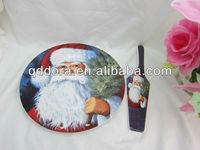 hot sale ceramic christmas cake plate with server