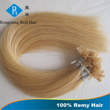 Factory Wholesale Price Italian Keratin Double Drawn Remy u tip hair extension