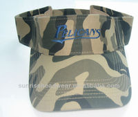 custom embroidery camo visor