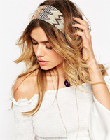 New Design Hot Sale Ladies Elastic Fabric Head Band Head Wrap With Pattern