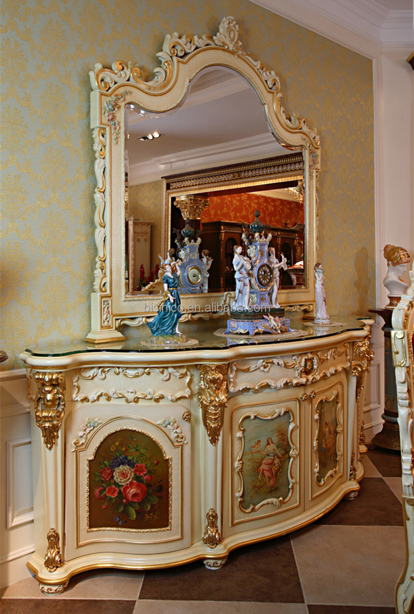 Luxury french rococo style gold outlining food service for French rococo style