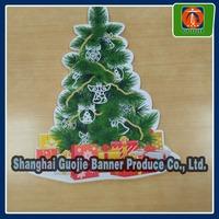 Christmas tree decoration window sticker,foam board sticker