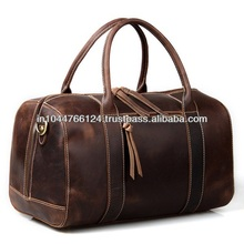 ADATB - 0041 branded duffel bag leather / latest design leather outdoor travel bag / new arrival men leather travel bag