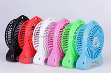 plastic led light usb mini fan small table fan desk fan