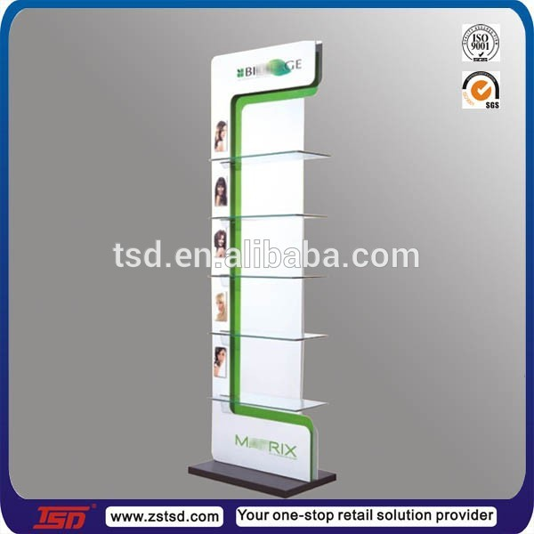 Tsdm40 Custom High Quality Pos Metal Hair Salon Products Display New Salon Retail Display Stands