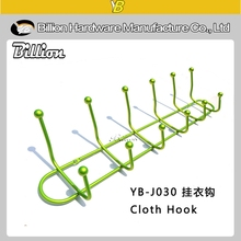 Wholesale Solid Wood Door Wall Mounted Clothes Hook 6 Hook Organizer Rack