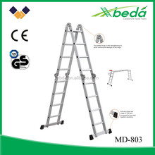 multi-purpose easy folding aluminum motorcycle ladder (MD-801 4X2)