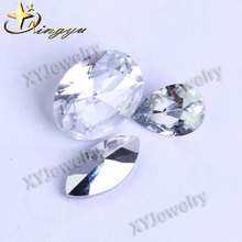 Foiled Back Stone Faceted Glass Stones For Clothes Decoration
