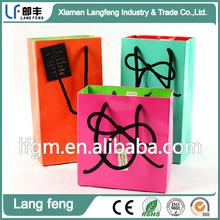 Custom Cotton Handle Shopping Paper Bag