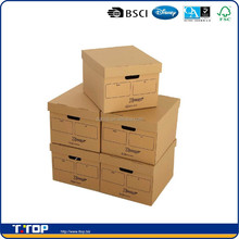FSC & BSCI Factory Customized Brown Carton Storage Box