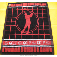 2015 New Cotton Golf Towel - clips to your golf bag - 50cms x 40cms