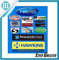 Custom plastic stickers label vinyl die cut stickers private label 3m adhesive