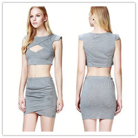 Wholesale Cheap Two-pieces Slim Dress Sexy Girl Night Club Party Dress