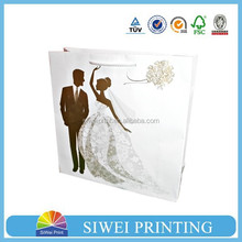branded big bag for gift hot sale customized logo printed for wedding
