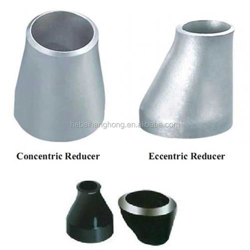 Carbon steel pipe fitting eccentric reducer formula view