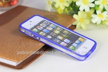 cheap mobile phone case for iphone5/5S, for iphone frame Bumper Case Transparent TPU Clear, silicone case for iphone5/5s