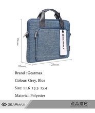 Gearmax Fine quality shockproof inner bubble foam lining Brand handbag tote bag laptop bag for macbook air/pro