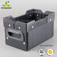 Black Collapsible folding PP packing plastic corrugated box